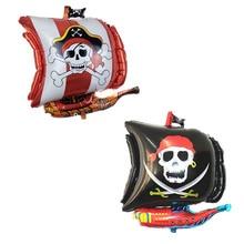 Retail 1pc/bag 54*68cm Irregular Corsair Balloon Sea Rover Balloon Pirate Ship Balloon Foil Balloon for Party Layout Decoration