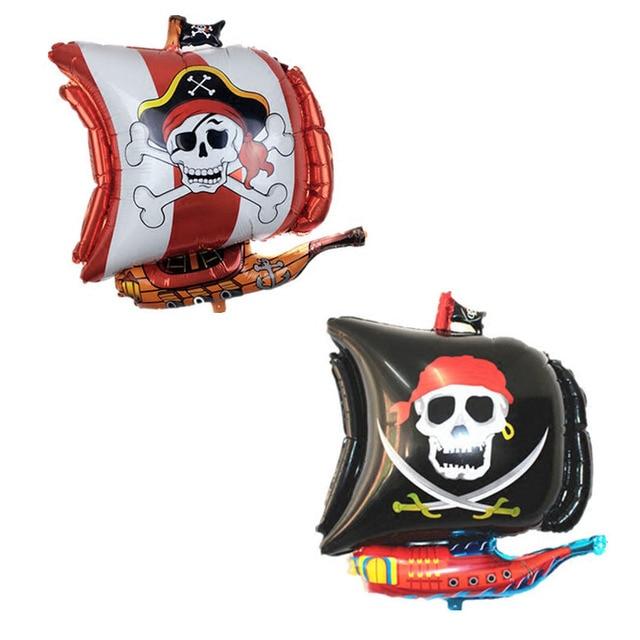 Varejo 1 pc/bag 54*68 cm Irregular Corsair Navio Pirata Sea Rover Balão Balão Balão Balão Foil para Festa Layout de Decoração