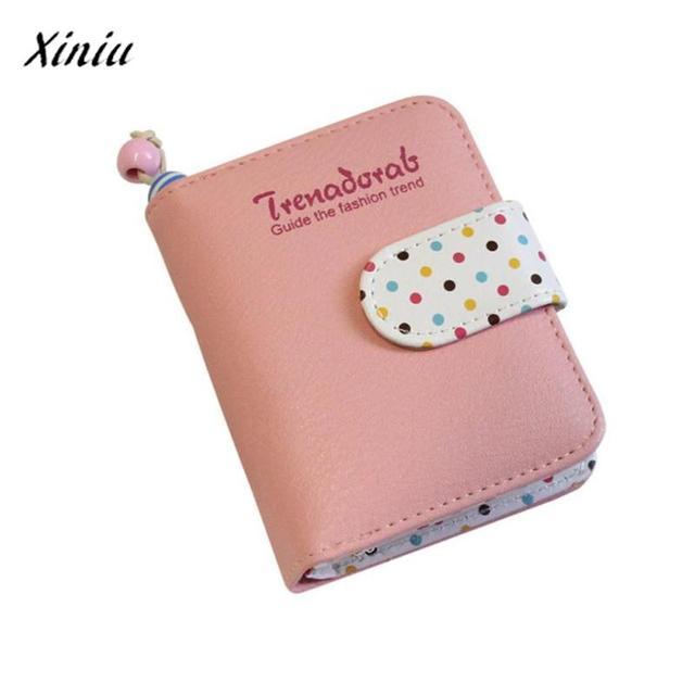 Womens short wallet cute dots coin purse clutch card holders womens short wallet cute dots coin purse clutch card holders womens wallets business card holder clutch colourmoves