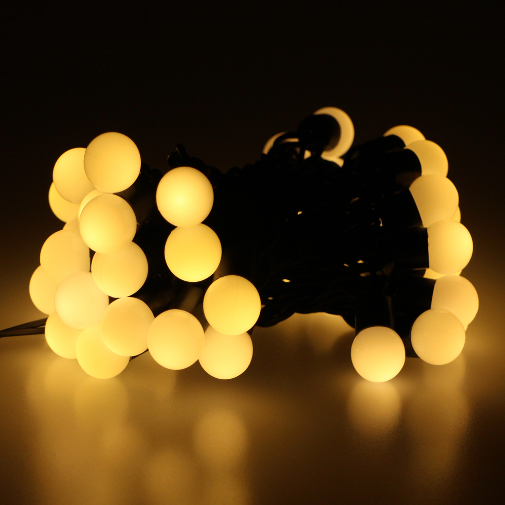 ac 110v 5m 50led warm white fairy christmas lights wedding decoration light led ball string lights with us plug