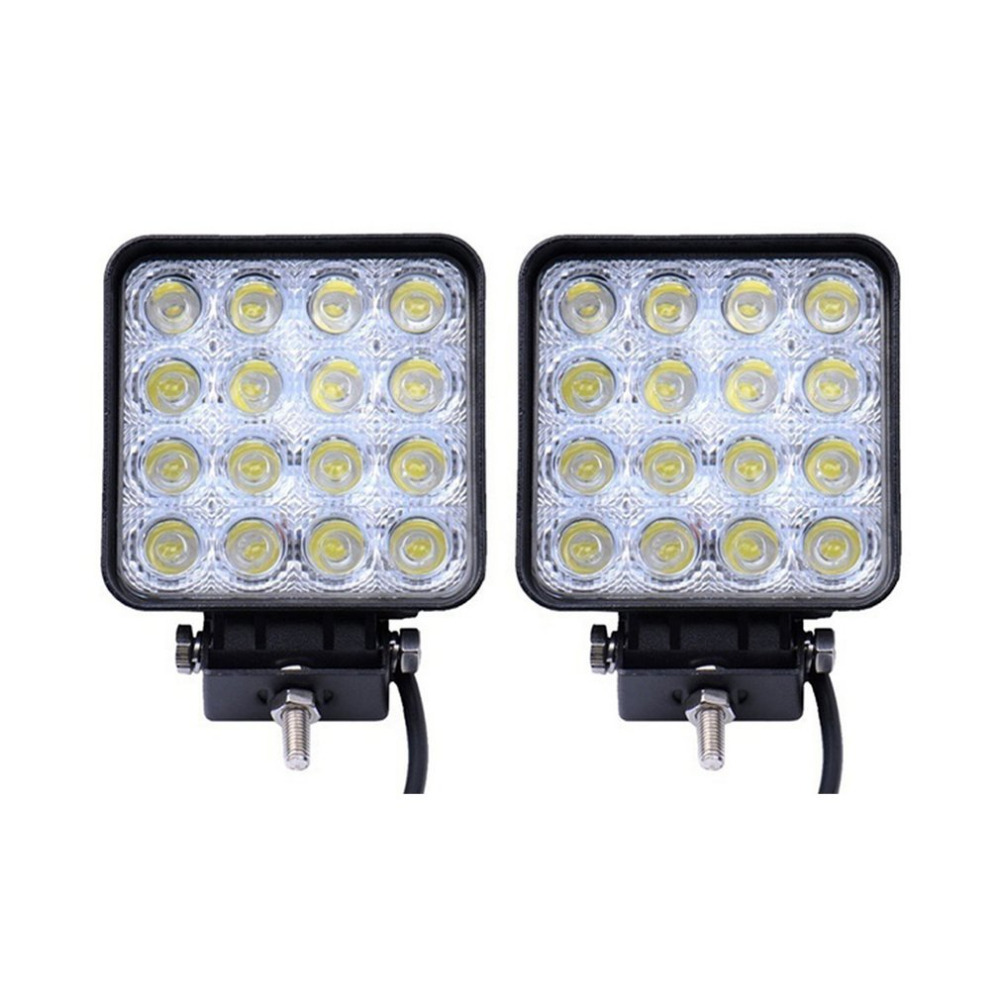 hot 48W DC12V Square Flood LED Work Lights Light Bar LED Off Road Driving Fog Lamps Motorcycle SUV Boat Night Driving Light