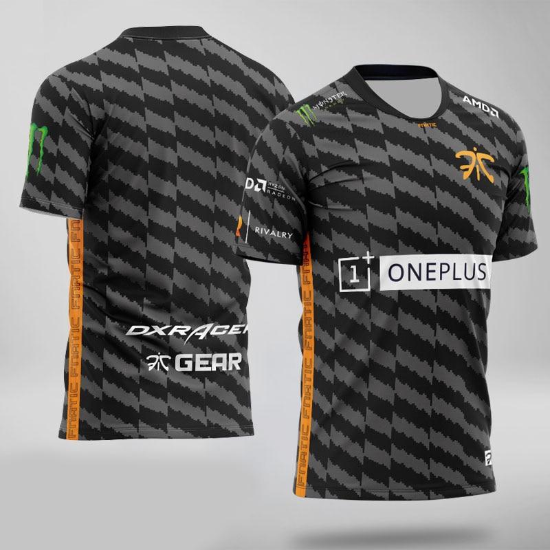 Top quality 1:1 Fnatic Custom ID Tshirt Fans   T  -  shirt   Men Women O-neck Short Sleeve   T     shirts   Custom Tee   Shirt   Homme