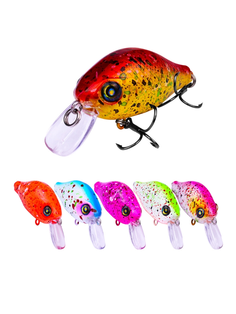 1pcs/lot 52mm 8.5g Crankbait Minnow Fishing Lures 3D Eyes Fishing Wobblers Swimbait Bass Fishing Tackle Artificial Baits Pesca