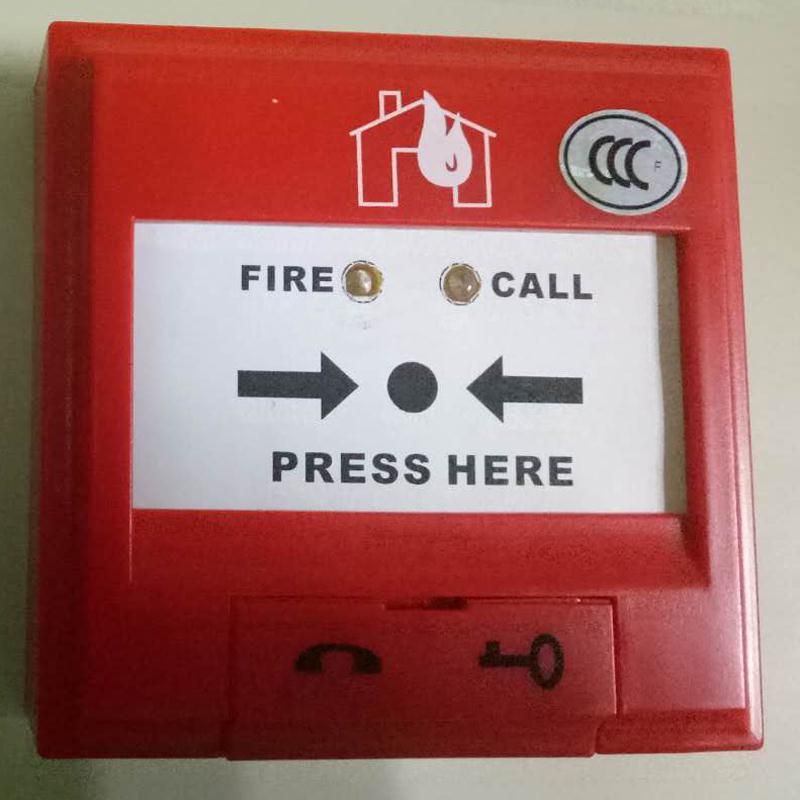 Addressable Manual Call Point Alarm System Emergency Key Reset Call Point Fire Alarm Button Works With FW Addressable System