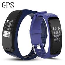 GPS Smart braeclet P5 в реальном времени сердечного ритма Смарт трекер Air Давление Защита окружающей среды Температура Высота Открытый SmartBand