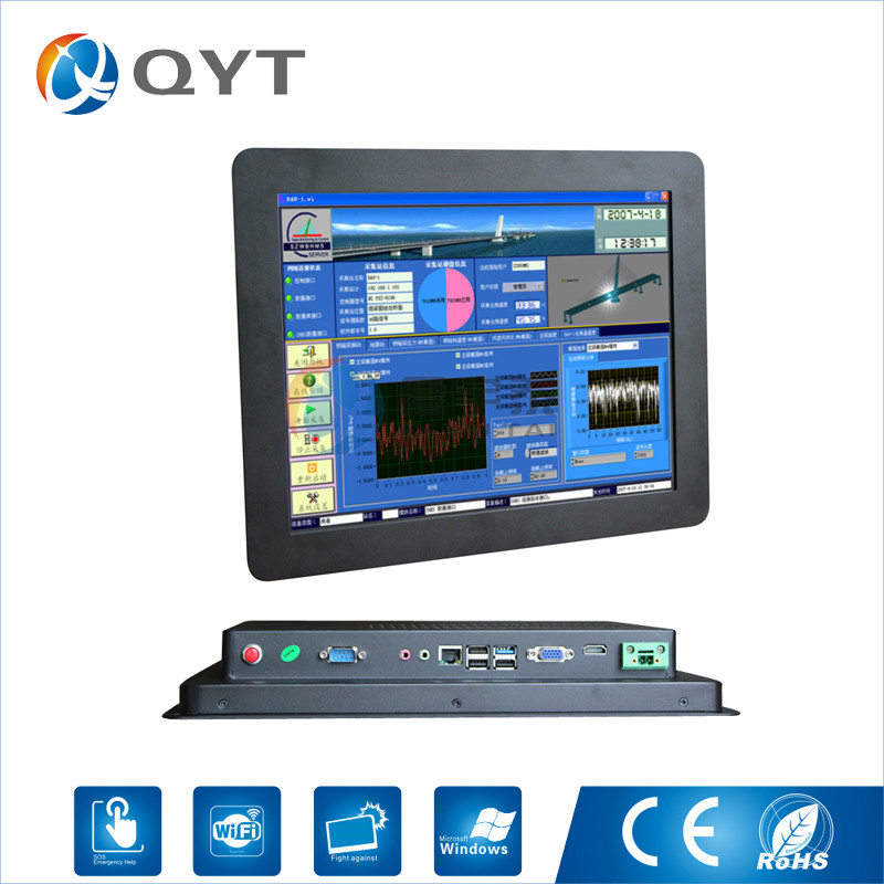 15'' Fanless pc all in one computer panel pc touch screen 1024x768 embedded computer Intel j1900 2.0GHz 2GB DDR3 32G SSD