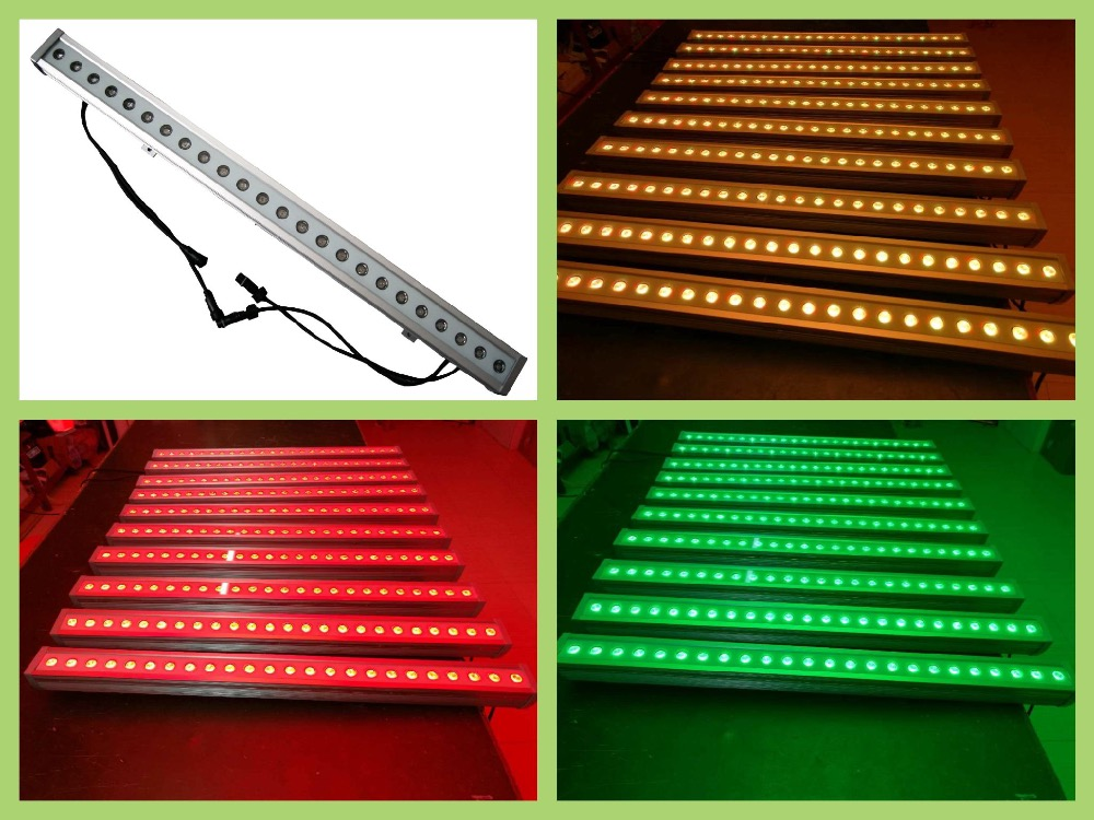 8pcs/lot, Waterproof LED Wall Wash light 24x3W Tri-RGB 3in1 or 24x10w RGBW 4in1 floodlight wedding lighting decoration stage автоинструменты new design autocom cdp 2014 2 3in1 led ds150