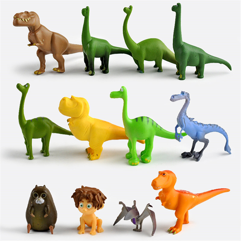12pcs/set The Good Dinosaur Action Figure Toy 2.5-7cm PVC Cartoon Figure Toys For Children Anime Brinqudoes ботинки the good dinosaur ботинки