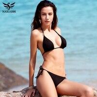 NAKIAEOI New Sexy Bikini 2017 Bandage Micro Brazilian Bikini Set Push Up Swimwear Women Swimsuit Bathing