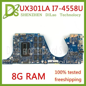 KEFU UX301LA For ASUS UX301 UX301L UX301LA UX301LAA  laptop motherboard 8G RAM REV2.0 Test mainboard work 100%