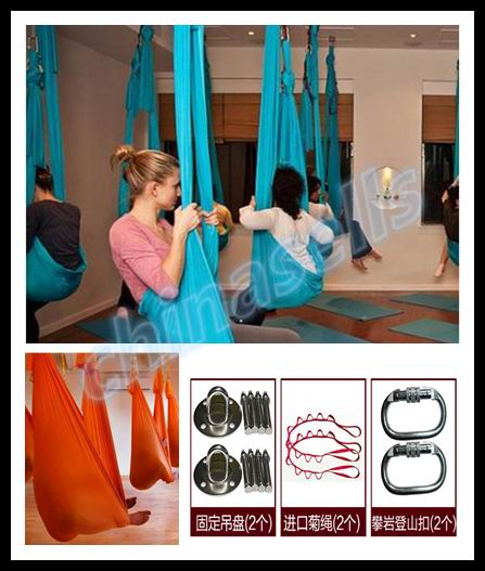 hot 6M aerial pilates yoga hammock yoga Inversion swing trapeze hammock anti-gravity belt Tool stretch rope fitness equipment 2 5m 1 5m elastic exercise yoga hammock aerial swing anti gravity yoga belt inversion trapeze hanging gym traction