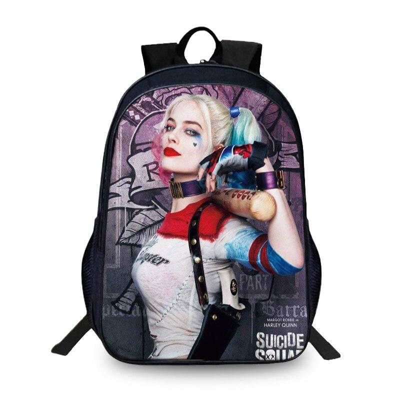 BAOBEIKU Hot Sale 3D Backpacks Suicide Squad Characters Printing Cool Children SchoolBags For Girls Boys Men Book Bag Kids Bags