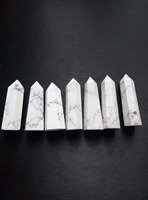 12 NATURAL White Polished Turquoise QUARTZ CRYSTAL Point Healing 634g