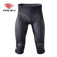 RION Cycling Shorts Men Mountain Road Bike Shorts Gel MTB Downhill Shockproof 3/4 Long Bicycle Shorts Pantalon Ciclismo Corto