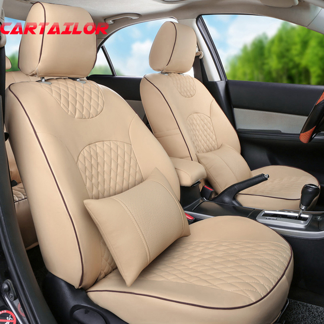 CARTAILOR PU Leather Cover Seats Fit For Subaru XV 2016 2015 2014 2013 Seat Covers Accessories
