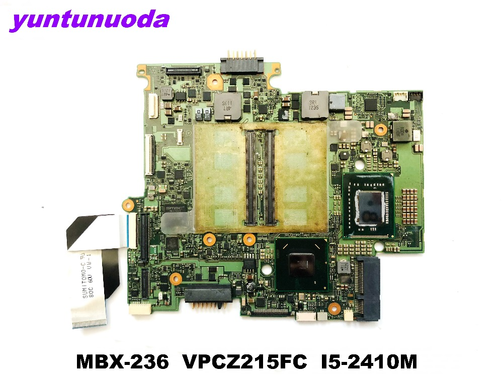 Original for SONY MBX-236 laptop motherboard MBX-236 VPCZ215FC <font><b>I5</b></font>-<font><b>2410M</b></font> tested good free shipping image