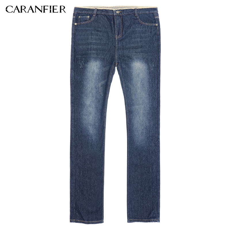 CARANFIER Winter Men Jeans classic Gray Blue Trousers Brand Clothing 2017 New Fashion Casual Trousers Male Quality Pants 36 38 17 shark summer new italy classic blue denim pants men slim fit brand trousers male high quality cotton fashion jeans homme 3366