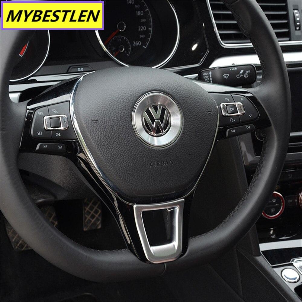 Image 3 - New ABS Car steering wheel interior sticker for VW Volkswagen Golf 7 POLO Santana Jetta Bora Sagitar Lavida Car Syling-in Car Stickers from Automobiles & Motorcycles