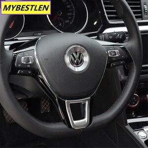 Image 3 - New ABS Car steering wheel interior sticker for VW Volkswagen Golf 7 POLO Santana Jetta Bora Sagitar Lavida Car Syling
