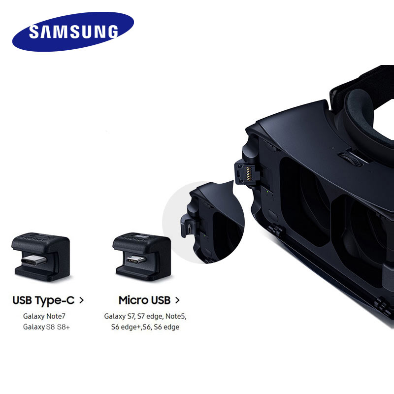 Gear VR 5.0 3D Glasses Samsung VR 3D Box For Samsung Galaxy S8 S8+ Note7 Note 5 S7 S9 Smartphones With Bluetooth Controller 3