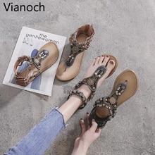 2019 New Fashion Women Sandals Beach Shoes Summer Flats Shoe Woman Size 40 41 wo19002 недорого