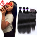 Brazilian Straight Hair With Closure Brazilian Virgin Hair With Closure Tissage Bresilienne Avec closure Human Hair With Closure