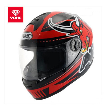 2019 New Knight Protection Safety YOHE Full Face Motorcycle Helmets Motocross Motorbike Helmet Made of ABS and PC Visor Lens