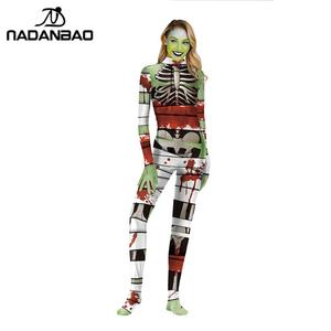 Image 3 - NADANBAO 2019 Purim Carnival Cosplay Joker COS Costumes For Women Clothing Cosplay Bodysuit Movie Costume Clown Catsuits
