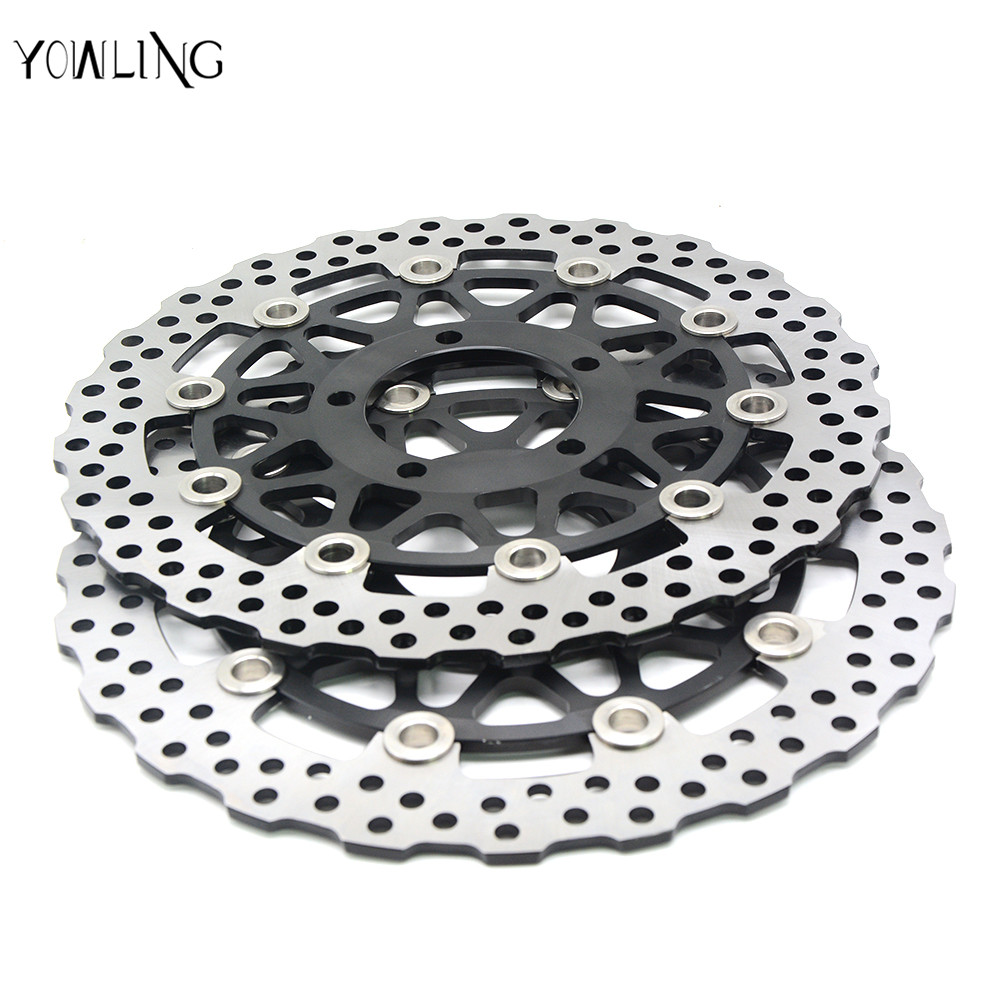 motorcycle accessories Front Brake Disc Rotor For KAWASAKI ZX10R 1000CC  2008 2009 2010 2011 2012 2013 2014 fashion 2pcs set newborn baby girls jumpsuit toddler girls flower pattern outfit clothes romper bodysuit pants