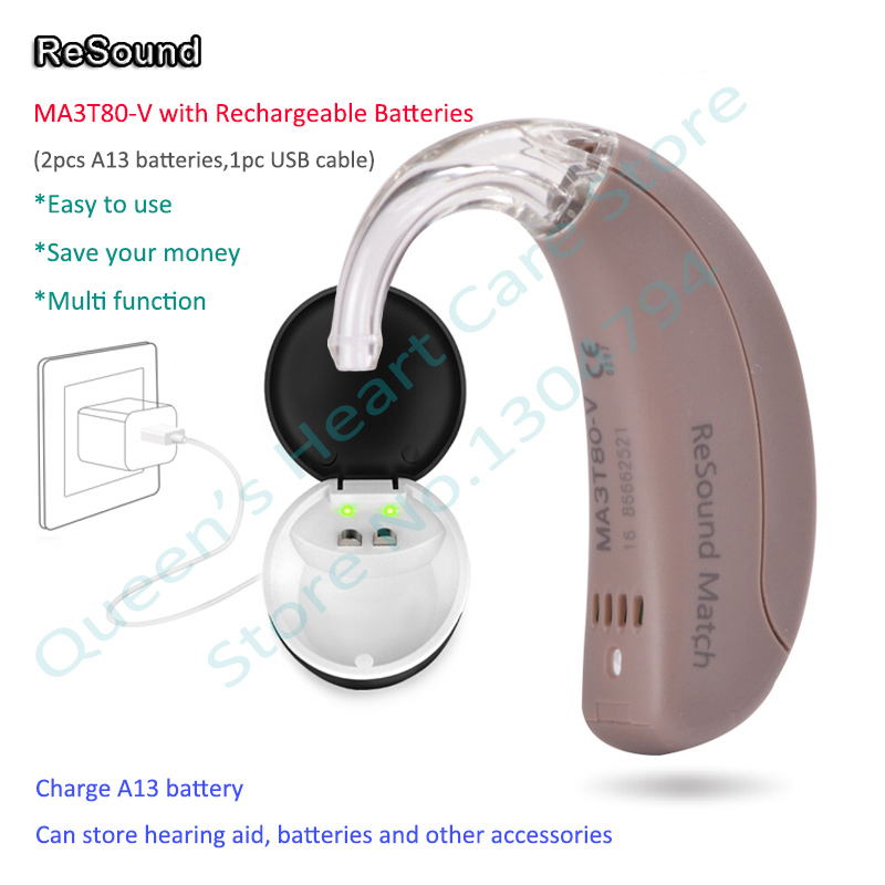 GN ReSound Match MA3T80 V High Super Power BTE Digital Hearing Aids Mini Sound Amplifiers with