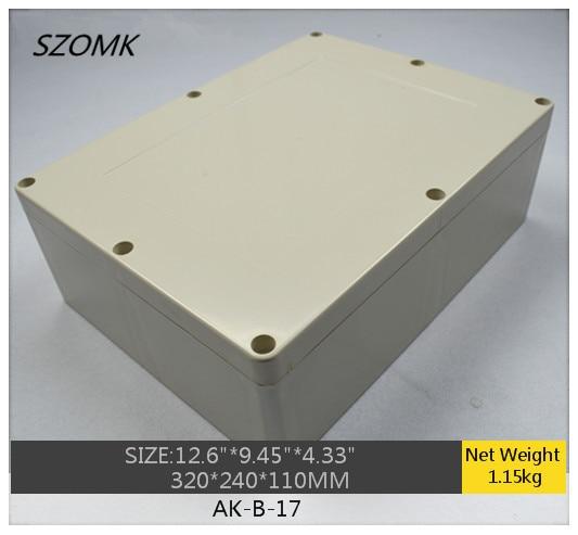 1 piece, electronics waterproof junction box 320*240*110mm IP65 waterproof plastic box, big plastic enclosure box