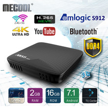 Mecool Amlogic S912 Android TV Box DDR4 Octa-core Smart 7.1 16GB 2.4G/5G WiFi BT 4.0 Airplay Miracast HD 4K M8S Pro Media Player(China)