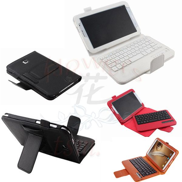 Wireless Bluetooth ABS Plastic keys keyboard & PU leather Case cover for samsung galaxy Note 8.0 N5100 N5110 texture mini bluetooth keyboard 80 keys black