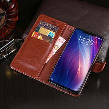 Wallet Case For Meizu X8 Flip Dirt-resistant Phone Cover PU Leather