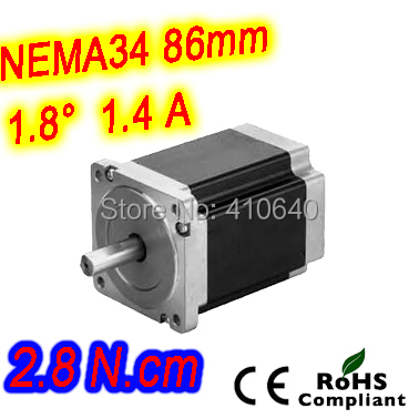 5 pcs per lot FREE SHIPPING stepper motor 34HS27-1404S L 68 mm Nema34 with 1.8 deg 1.4 A 2.8 N.cm and 4 wire ambaraba 5 guida per l insegnante