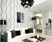 Beibehang Modern Simple Striped Nonwoven Water Ripple Curve Wall Paper TV Sofa Bedroom Background Papel De