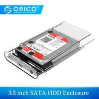 ORICO 3.5 นิ้ว HDD Enclosure Sata USB 3.0 เครื่องมือฟรีภายนอก Hdd กล่องสนับสนุน UASP Up 8 TB