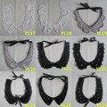 1 unids venta Exquisito Bordado Escote Cuello de Encaje accesorios de vestir de diy Applique del cordón de DIY collar Fino Señoras YL17-YL31