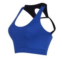 2017 Blue Professional Sports Fitness Women Yoga Top Sexy Push-up Sports Bra Yoga Fitness Vest Bra Workout Running Top Bra