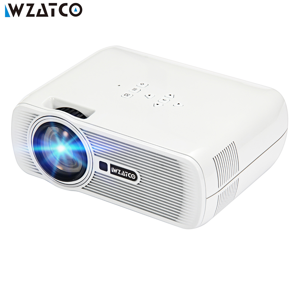 WZATCO CTL80 Smart Android 6.0 WIFI Portable HD LED TV Projector 1800lumens 3D Home Theater LCD Proyector Video Projektor Beamer jmgo view jmgo p2 dlp mini projector led wifi 3d full hd 1080p smart theater 180 inch hifi bluetooth portable proyector beamer