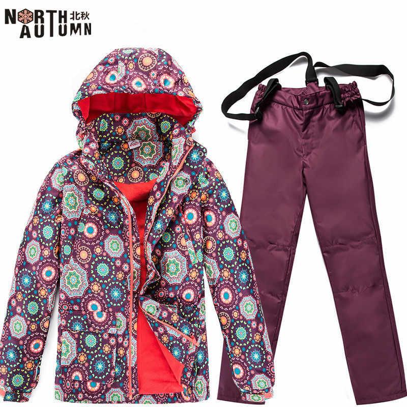 2019 Ski Anzug Für Frauen Skifahren Jacke Fleece Warme Winter frauen Snowboard Anzug Wasserdichte Sport Anzug Für Frauen Skifahren hose