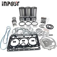 D1105 капитальный ремонт Перестроить Kit для двигатель компании kubota KX41 KX36 2 KX41 2 поршневое кольцо экскаватора прокладка подшипник с вкладышами