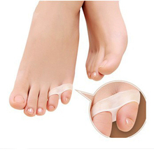 1 pair Gel Toe Separator Stretchers Bunion Toes Separates Pain Relief Hallux Valgus Pedicure