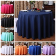24 Colours Wedding Table Cover Table Cloth Polyester Table Linen Hotel Banquet Round Tables Decoration Wholesale