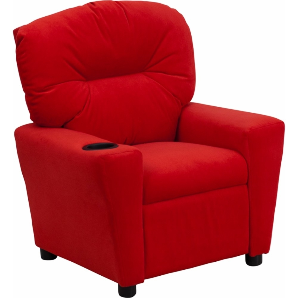 Flash Furniture Contemporary Red Microfiber Kids Recliner with Cup Holder [863-BT-7950-KID-MIC-RED-GG]