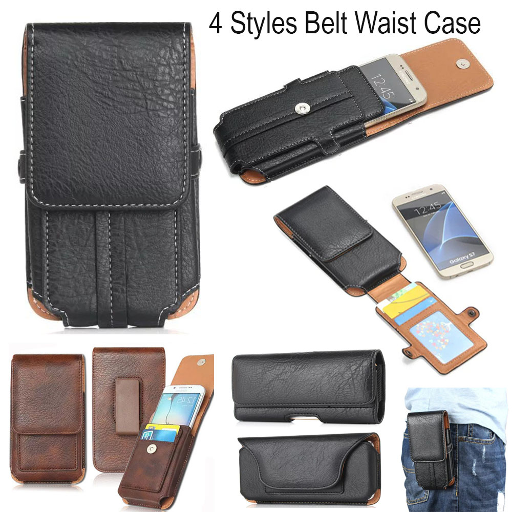 4 Style,TOP Quality Belt Waist Sports Bag Horizontal+Vertical Mobile Phone Case+Card Poc ...