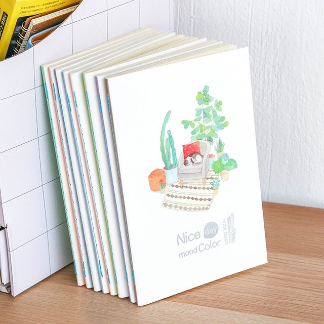 Nice Day Mood Color Notebook Kawaii School Diary And Journals Supplies Stationery 034