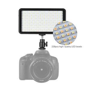 Image 2 - Andoer Ultra dunne 3200 k/6000 k LED Light Panel Lamp Studio Video Fotografie 228 stks Bead voor canon Nikon DSLR Camera DV Camcorder