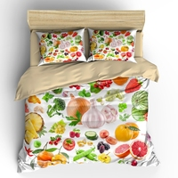 AHSNME High Definition Vegetable Fruit Salad Cover Sets Summer Bedding Set Pineapple Garlic Onion Bean Bedlinens Bedding Set