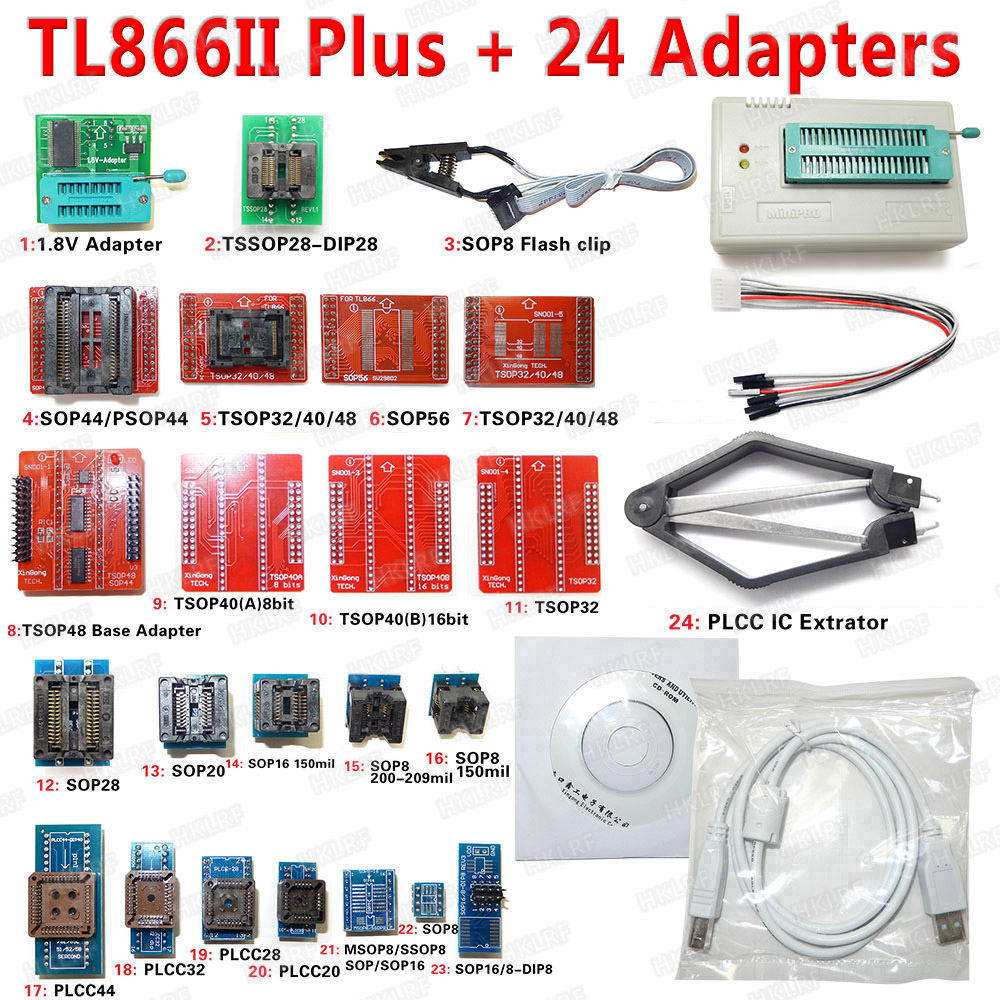 Image 5 - XGECU 100% Original Minipro TL866ii Plus + 12 Adapters EEPROM Universal Bios USB programmer better than TL866A TL866CS-in Integrated Circuits from Electronic Components & Supplies